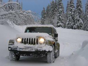 冬場燃費で雪下ろし