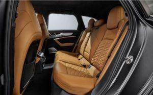アウディ新型RS6アバント(2020)の後部座席